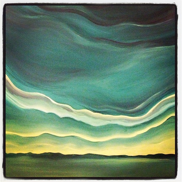 Cape Breton Sea and Sky Acrylic on Canvas