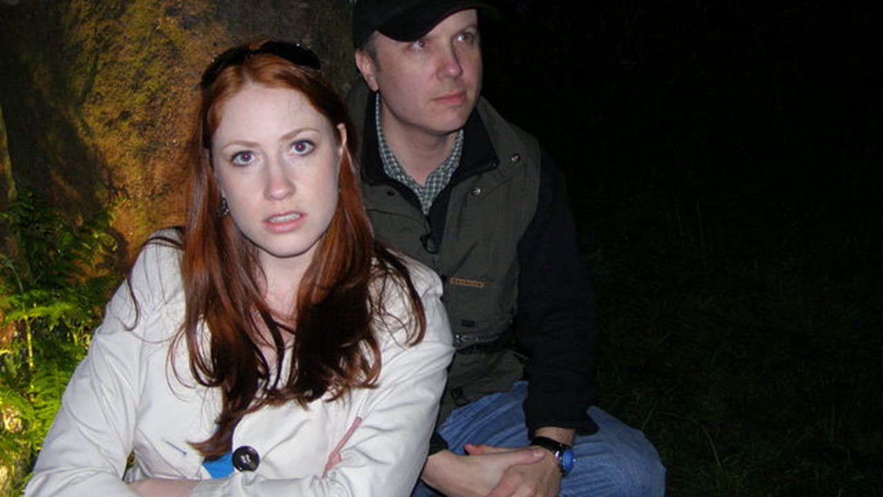Holly and yours truly as hosts of Ghost Cases in 2009.