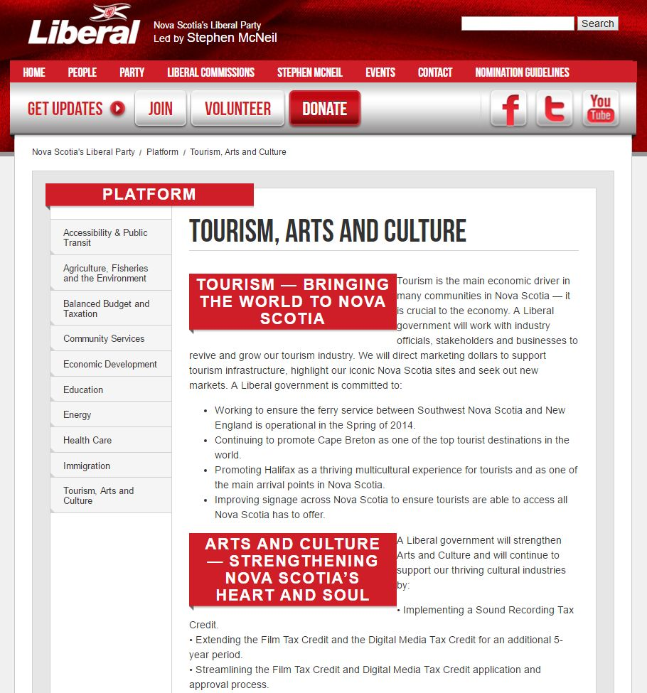 The Liberal campaign promises on the arts of 2013. Film tax credit? Gone. Sound recording tax credit? Never implemented.