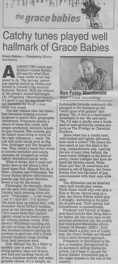A review from 10 October, 1996, that did not get me tons of hate mail.